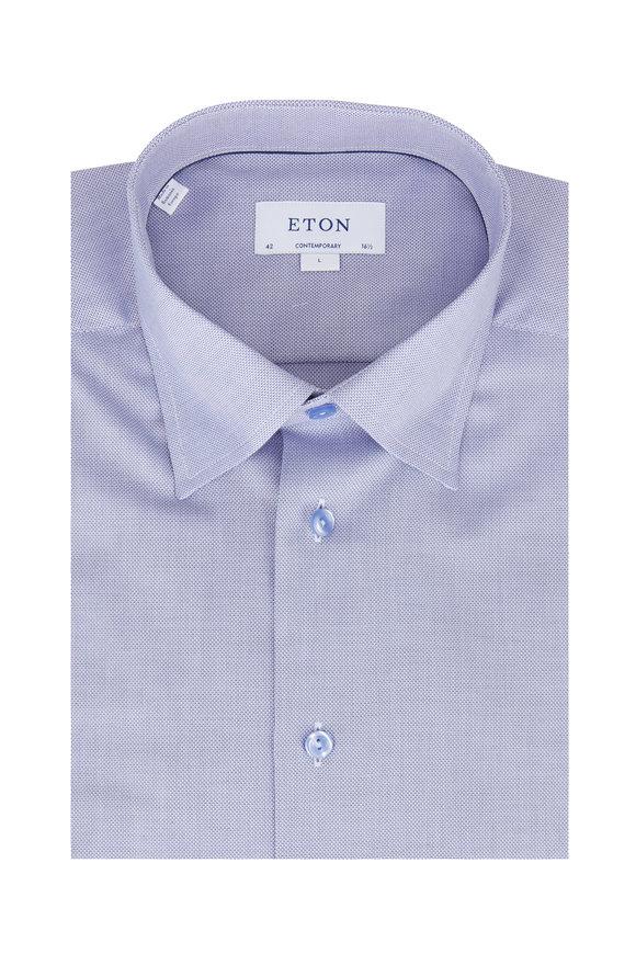 Eton Blue Oxford Contemporary Fit Dress Shirt
