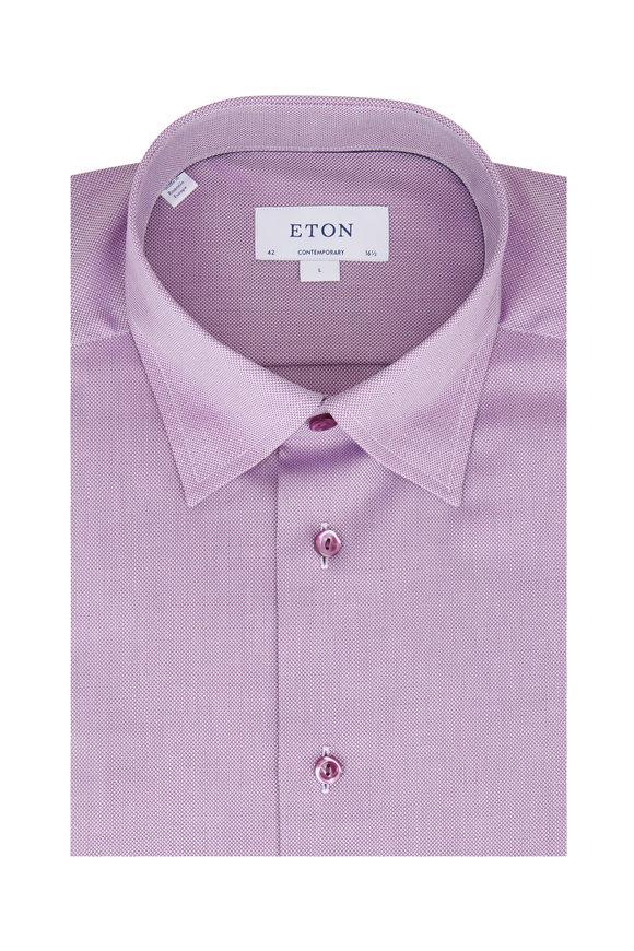 Eton Purple Oxford Contemporary Fit Dress Shirt