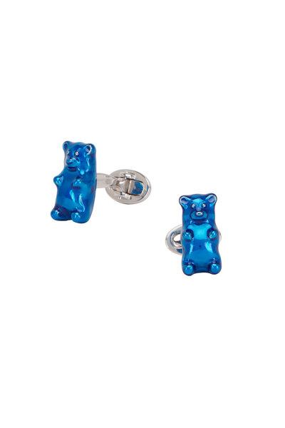 Jan Leslie - Sterling Silver Blue Gummy Bear Cufflinks