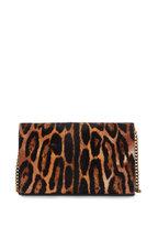 Saint Laurent - Monogram Leopard Print Pony Hair Chain Wallet