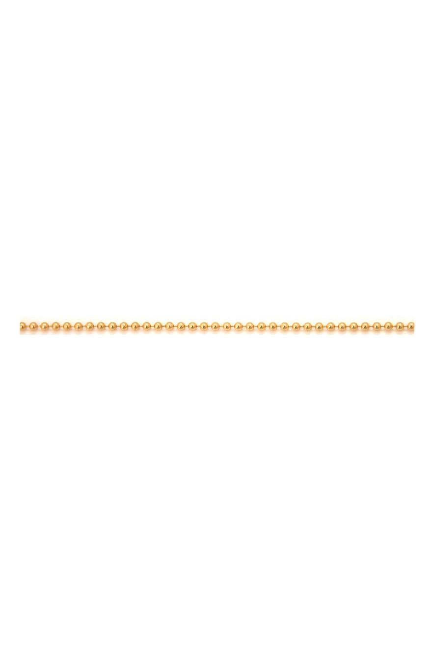 18K Yellow Gold Ball Chain