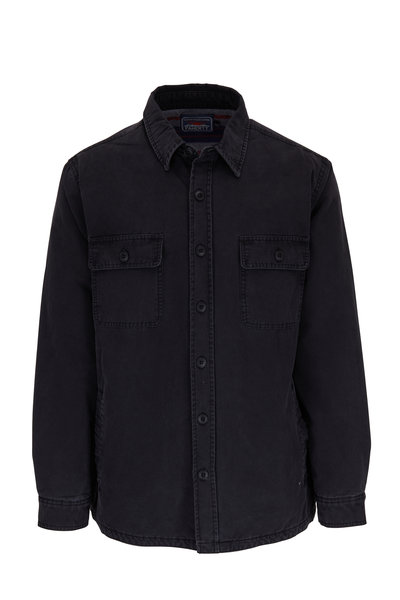 Faherty Brand - Washed Black Cotton Front Button Jacket