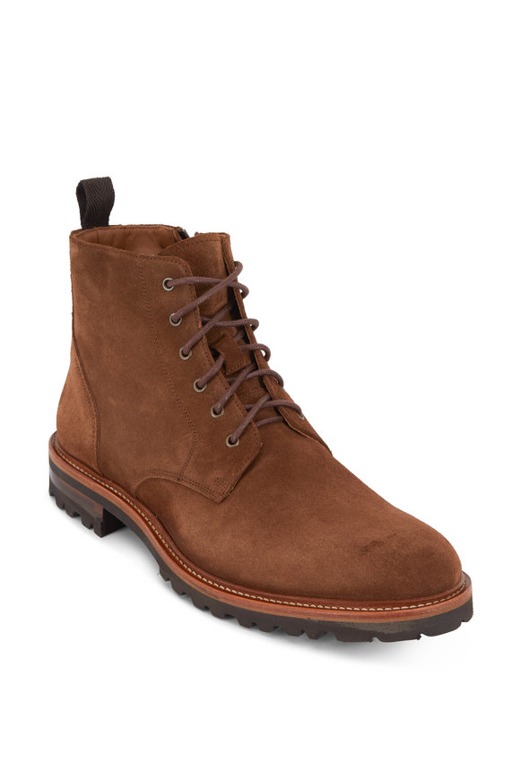 Aquatalia Leaston Chestnut Suede Weatherproof Boot