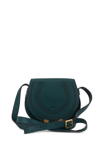 Chloé - Marcie Rain Forest Grained Leather Mini Crossbody