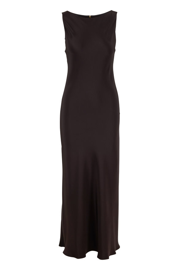 Peter Cohen Pitch Black Sleeveless Pillar Dress