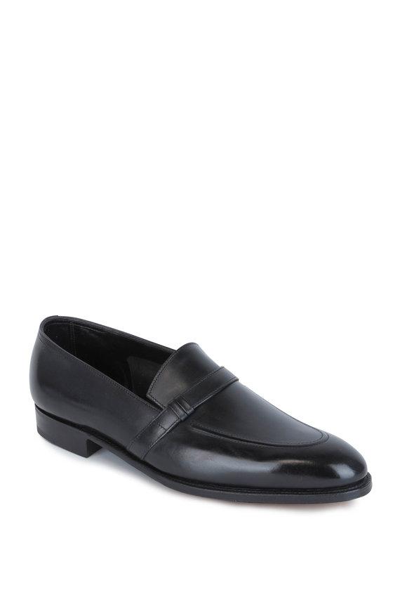John Lobb Felton Black Leather Loafer