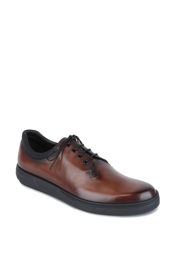 Berluti Brown Leather Lace Up Dress Shoe