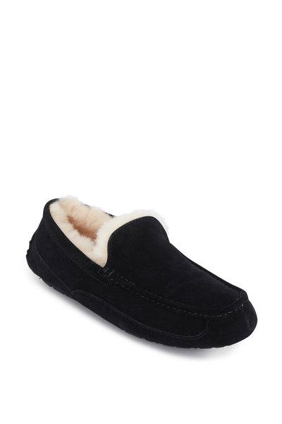 Ugg - Ascot Uggpure Black Suede Shearling Slipper