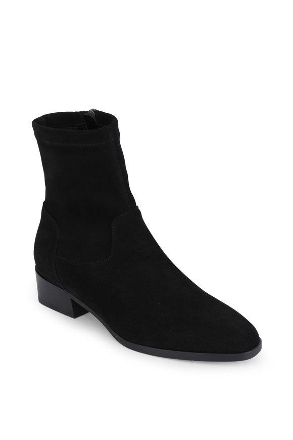 Aquatalia Faren Black Suede Ankle Weatherproof Boot