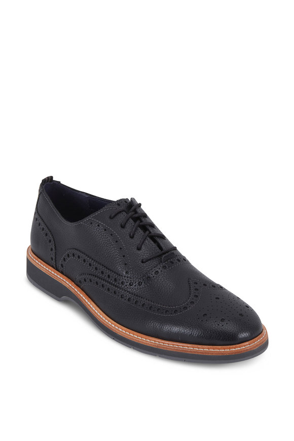 Cole Haan Morris Black Leather Wingtip Oxford