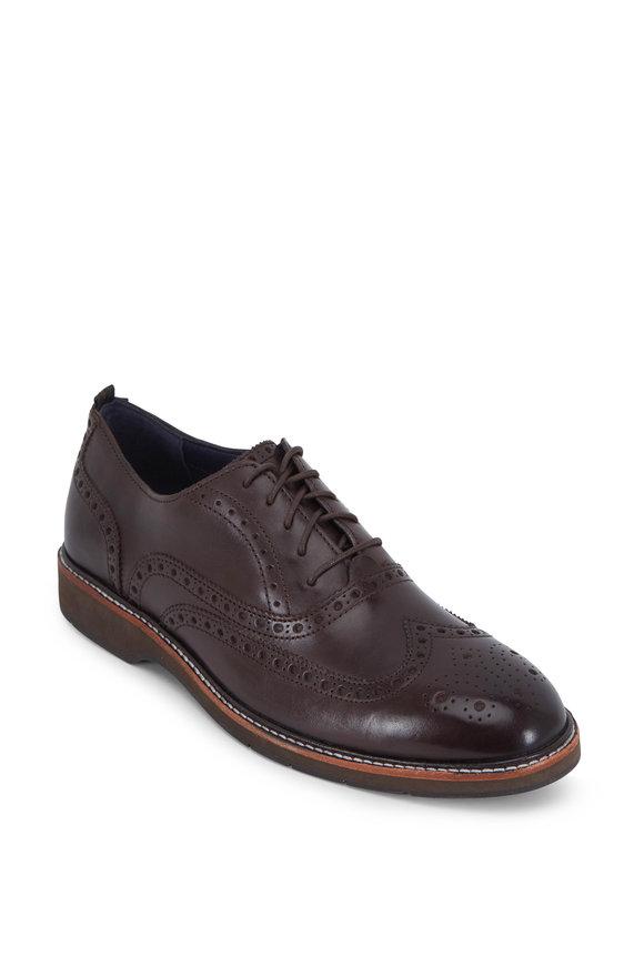 Cole Haan Morris Java Brown Leather Wingtip Oxford
