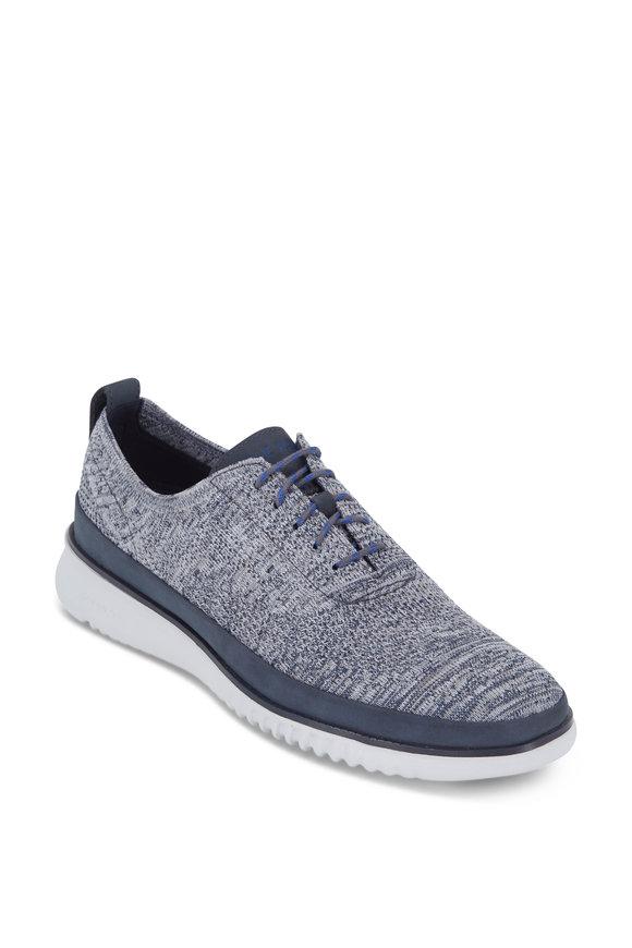 Cole Haan Zerogrand Stitchlite Blue & Steel Knit Oxford