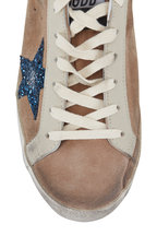 Golden Goose - Superstar Desert Suede Blue Glitter Star Sneaker