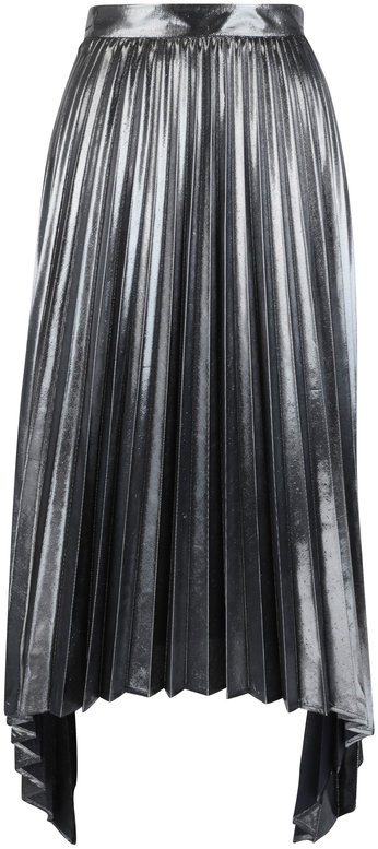 Altuzarra Freya Dark Grey Lamé Pleated Skirt