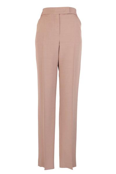 Giorgio Armani - Camel Silk & Wool Slim Pant