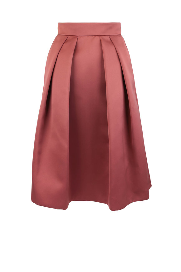 Giorgio Armani Rust Satin Circle Skirt