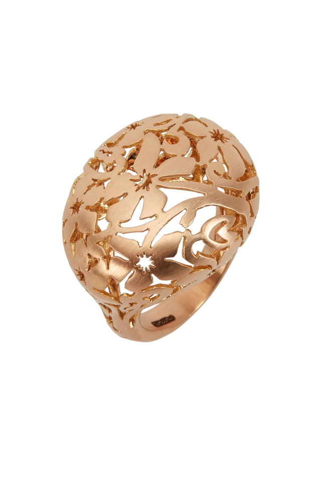 Arabesque Pink Gold Matte Ring