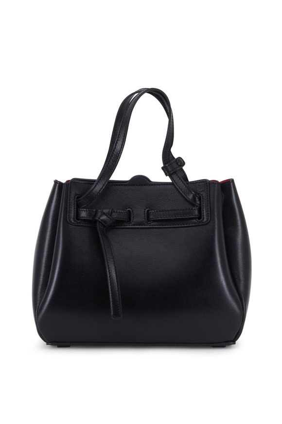 Loewe Lazo Black Glossy Leather Mini Bag