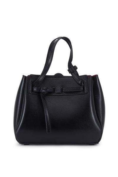 Loewe - Lazo Black Glossy Leather Mini Bag