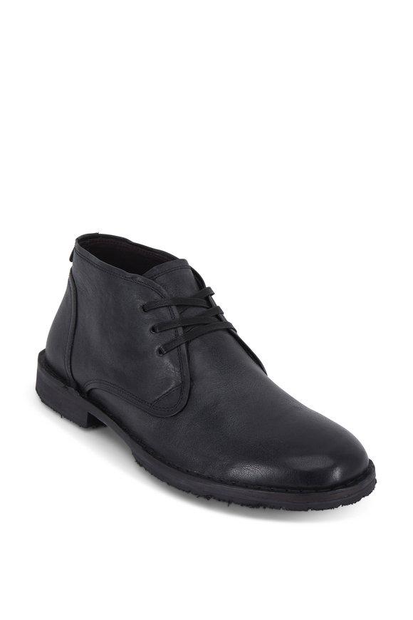 John Varvatos Portland Black Antiqued Leather Chukka Boot
