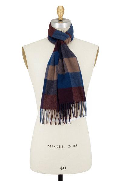 Raffi - Merlot Plaid Wool & Cashmere Scarf