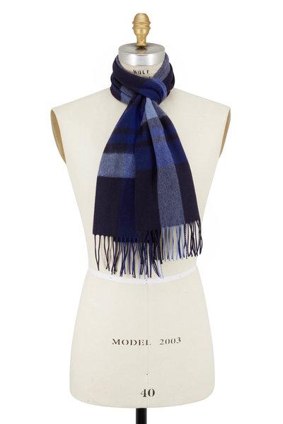 Raffi - Ocean Plaid Wool & Cashmere Scarf