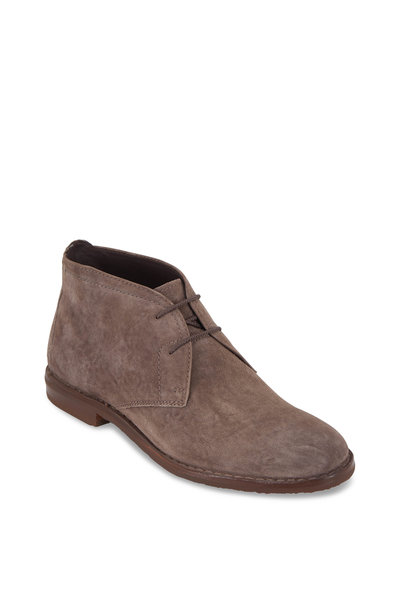 Trask - Brady Gray Italian Suede Lace-Up Boot