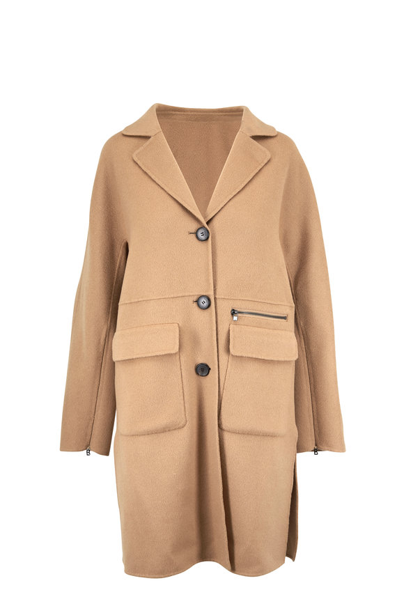 Bogner Luasanne Camel Wool & Cashmere Coat
