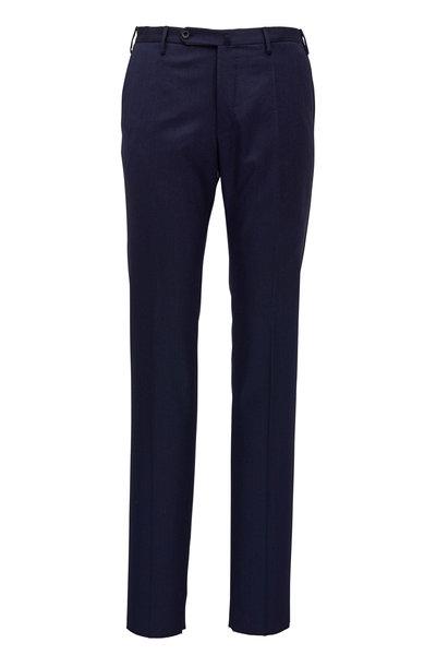 Incotex - Matty Dark Navy Stretch Wool Modern Fit Pant
