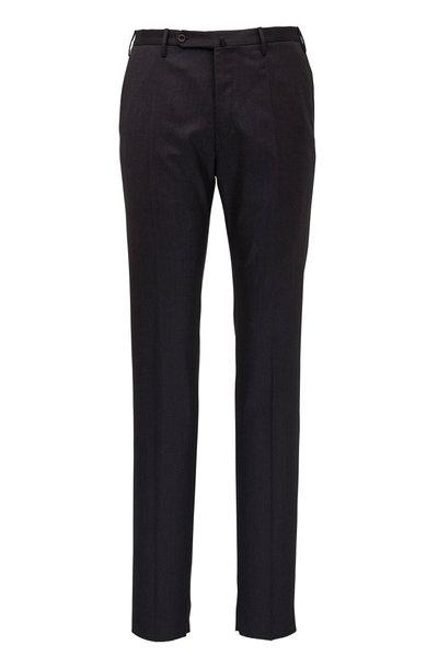 Incotex - Matty Charcoal Gray Stretch Wool Modern Fit Pant