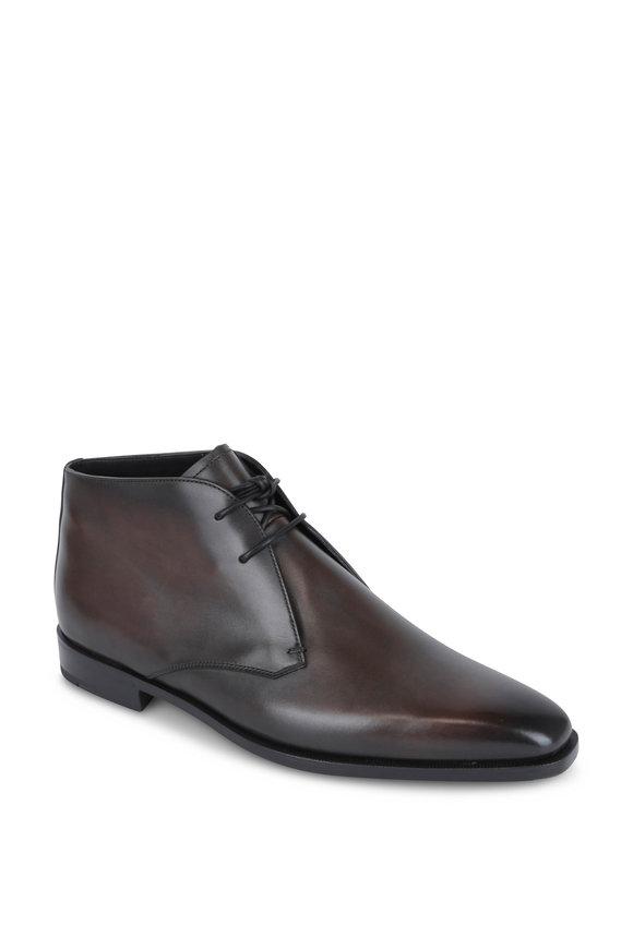 Berluti Brown Leather Chukka Boot