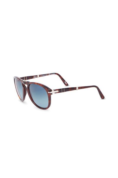 Persol - PO071454 Folding Havana Polarized Sunglasses