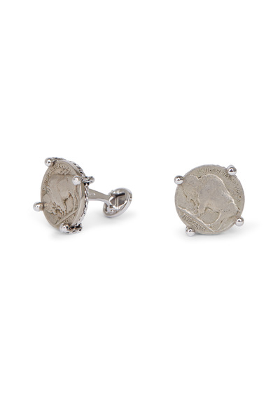 Jan Leslie - Sterling Silver Buffalo Nickle Coin Cuff Links