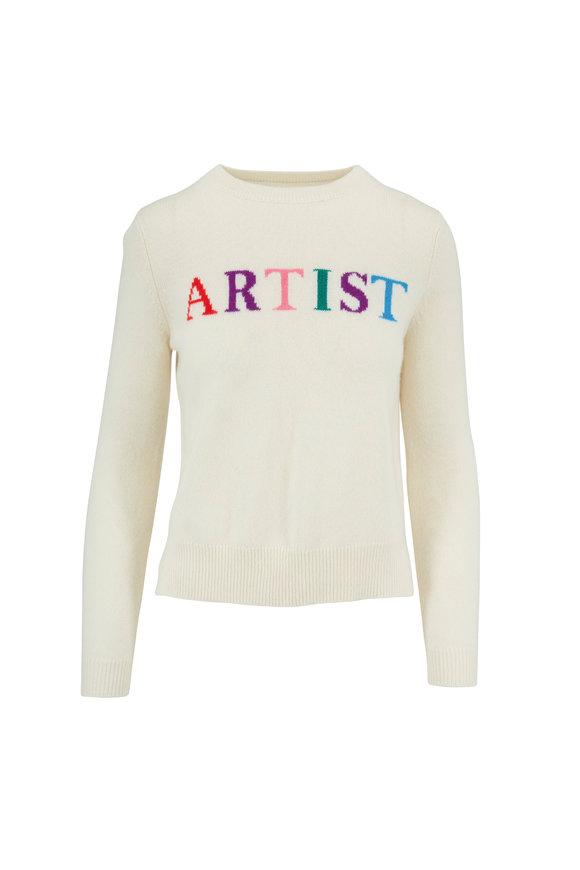 Chinti & Parker Cream Multi Artist Crewneck Sweater
