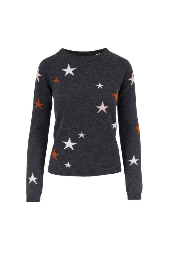 Chinti & Parker Charcoal Gray Cashmere Star Sweater