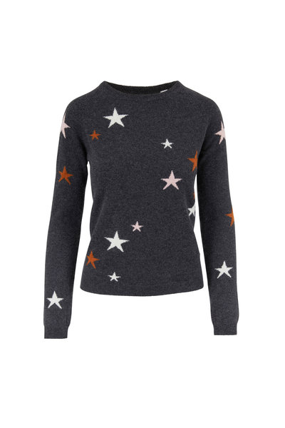 Chinti & Parker - Charcoal Gray Cashmere Star Sweater