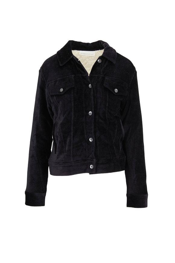 Majestic Black Corduroy Jacket