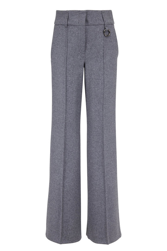 Dorothee Schumacher Gray Melange Wool Blend Wide Leg Pant