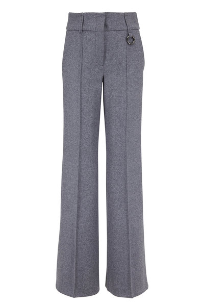 Dorothee Schumacher - Gray Melange Wool Blend Wide Leg Pant