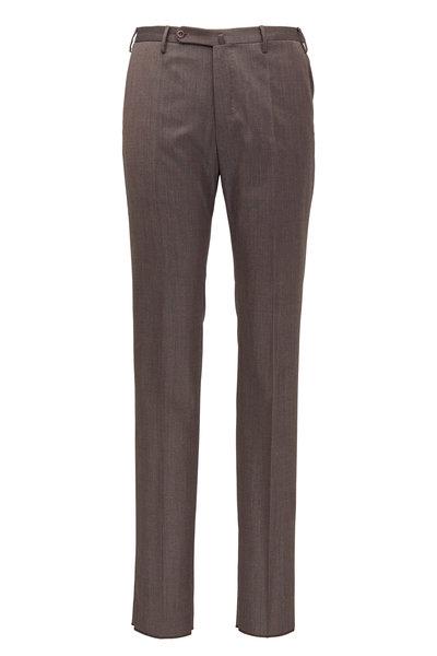 Incotex - Matty Taupe Stretch Wool Modern Fit Pant