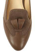Sarah Flint - Bennett Taupe Suede & Leather Flat