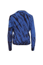 The Elder Statesman - Azure & Black Cashmere Slash-Dye Sweater