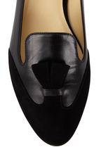 Sarah Flint - Bennett Black Suede & Leather Flat