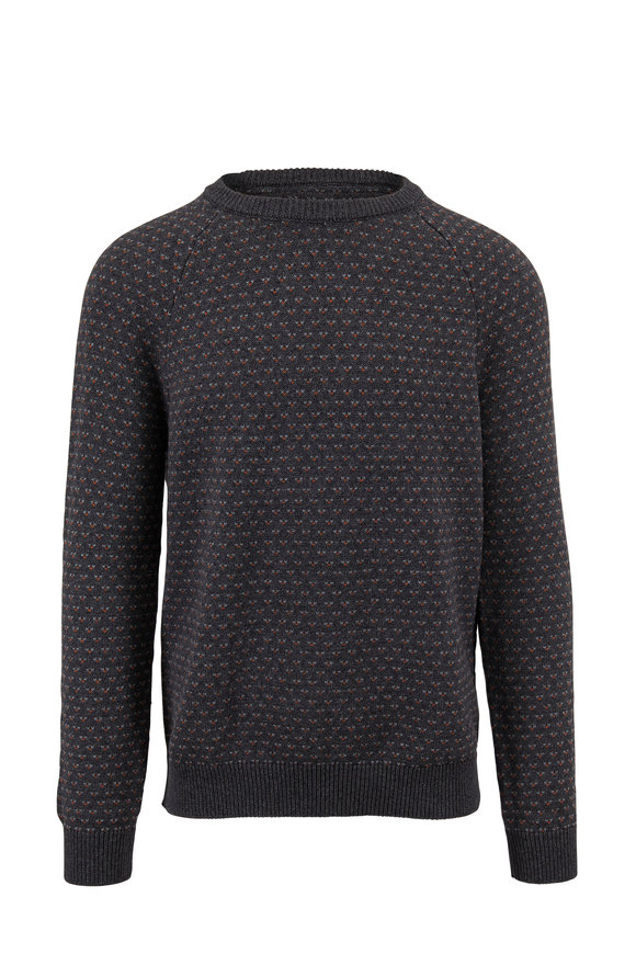 Faherty Brand Gloucester Charcoal Birdseye Cotton Pullover