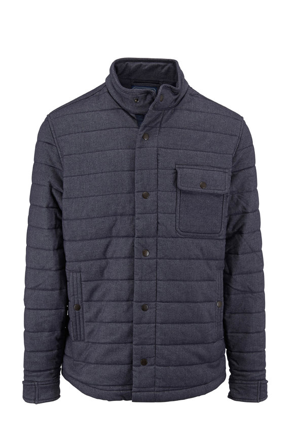 Faherty Brand Teton Valley Slate Quilted Jacket