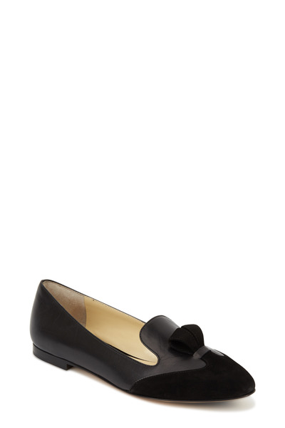Sarah Flint - Bennett Black Suede & Leather Flat