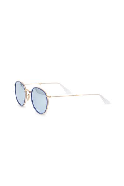 Ray Ban - Classic Blue & Gold Folding Sunglasses