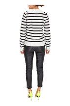 Saint Laurent - White & Black Wool Striped Sweater