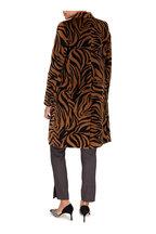 Nili Lotan - Chelsea Brown Melange Stretch Wool Pant