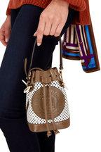 Fendi - Mon Tresor Brown & White Perforated Mini Bag